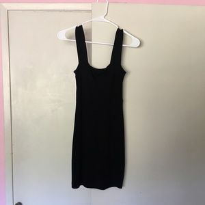 Black H&M minidress — great basic